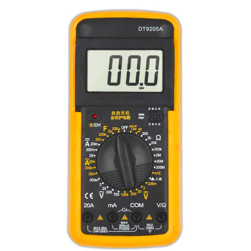 Digital Multimeter LCD AC DC Amperemeter Widerstand Kapazität Tester DT9205A DE
