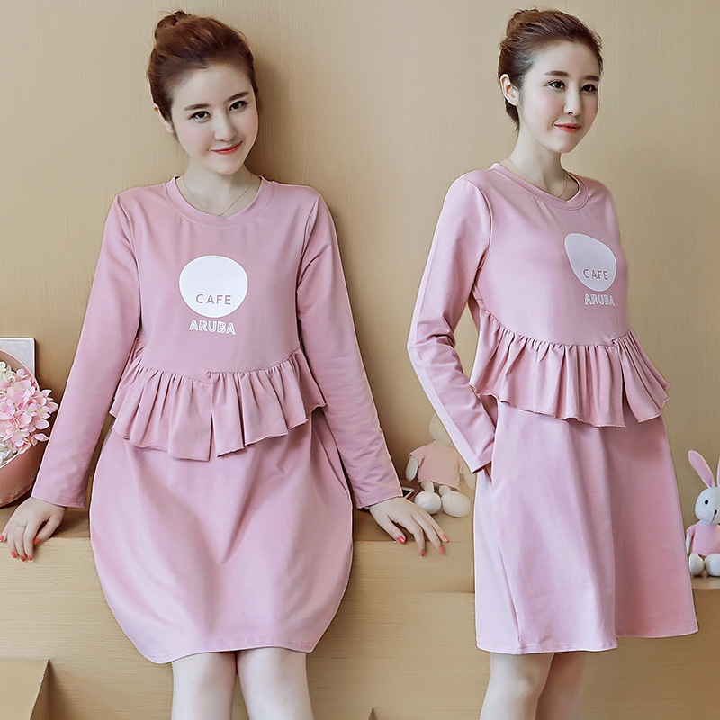 Maternity Upscale Breastfeeding Dresses Maternity Dresses Pregnancy Evening Gowns Clothes Pregnant Women Nursing Dress YL554