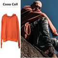 Fashion Men Winter Justin Bieber Kanye West Extra long Sleeve Orange Hoodies Hooded Hip Hop oversize Sweatshirts Cooo Coll