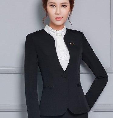 Women 2 Piece Ol Trouser Suit Plus Size Ladies Formal Business Pants Suits Black Gray Office Suits for Women Pantsuit 4XL