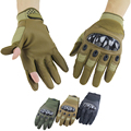 Army Tactical Gloves Special Forces Outdoor Full or Half Finger Combat Slip-resistant Cut resistant Carbon Knuckle Gloves
