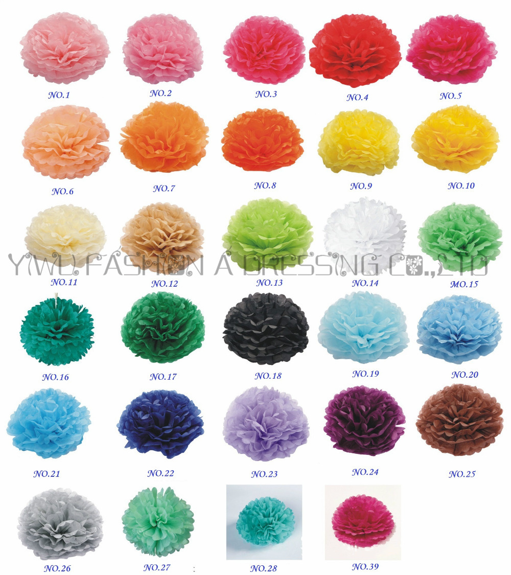 Aliexpress Buy 29 Colors Available Tissue Paper Pom Poms