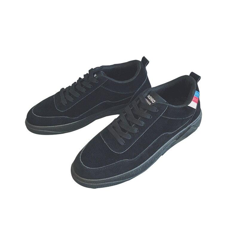 Solide Vulcaniser Autumm Plat Chaussures Hommes Décontractées Noir À Loisirs bleu Respirant Lacets rouge Mode Toile Garçons Sneakers Couture Printemps marron xwIPqzq8