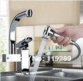 Torneira Cozinha. Polido Latão Cromado Duplo Bicos de 360 Graus & Pull Out Cozinha Faucet. Kitchen Sink Toque Mixer. XK-014