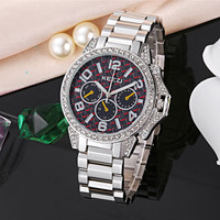 Relojes Mujer 2015 Watch Woman Luxury Brand KEZZI Quartz Watch Full Stainless Steel Belt Fashion Bussiness