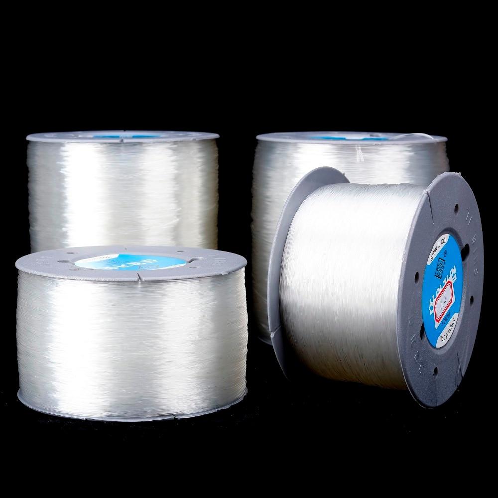 LanLi 0.4/0.6/0.8/1.0mm fil de nylon blanc extensible pour bijoux collier bijoux accessoires et pêche