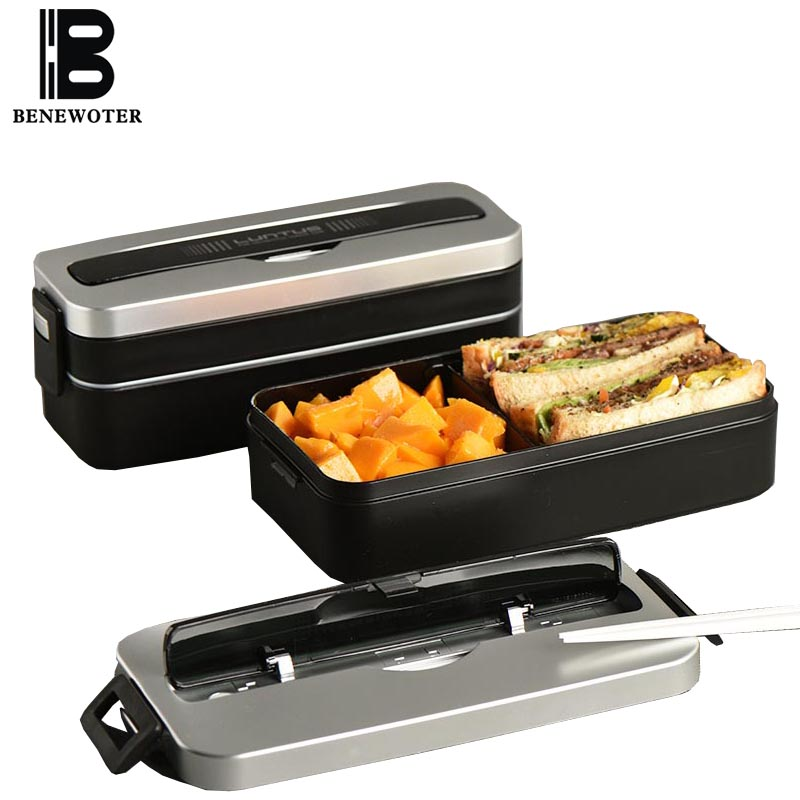 800ml Simple Japanese style Bento Boxes Portable Student Lunch Box Microwave Oven Dinnerware Food Storage Container Lunchbox New
