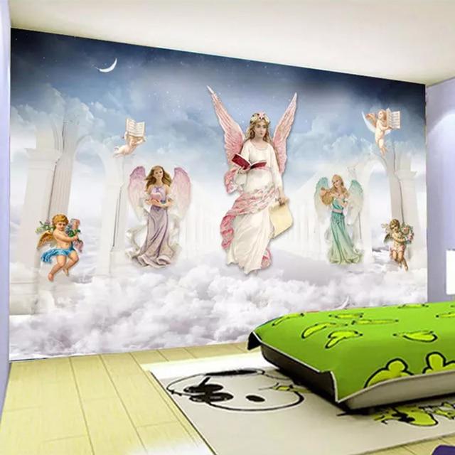 Photo Wallpaper 3d Cartoon Angel Cartoon Murals Children S Bedroom