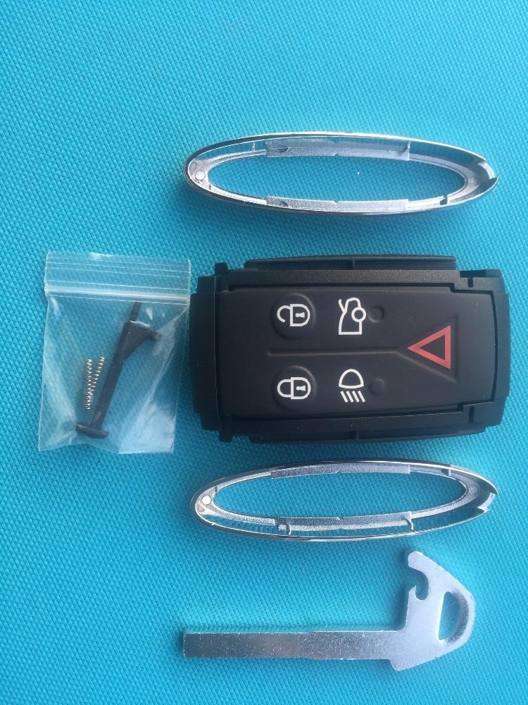 Zabeudeir nova substituição chave em branco para jaguar x tipo s xkr xf xk 5 botão remoto inteligente chave fob caso escudo lâmina sem corte nenhum logotipo