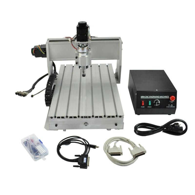 CNC 3040 machine De Gravure 3 Axe Mini Graveur pour le Bois et Autres Matériaux Souples CNC Routeur