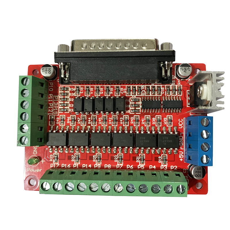 CNC High Speed Interface Board Parallel Port DB25 Optical Isolation High Speed Optocoupler 6N137