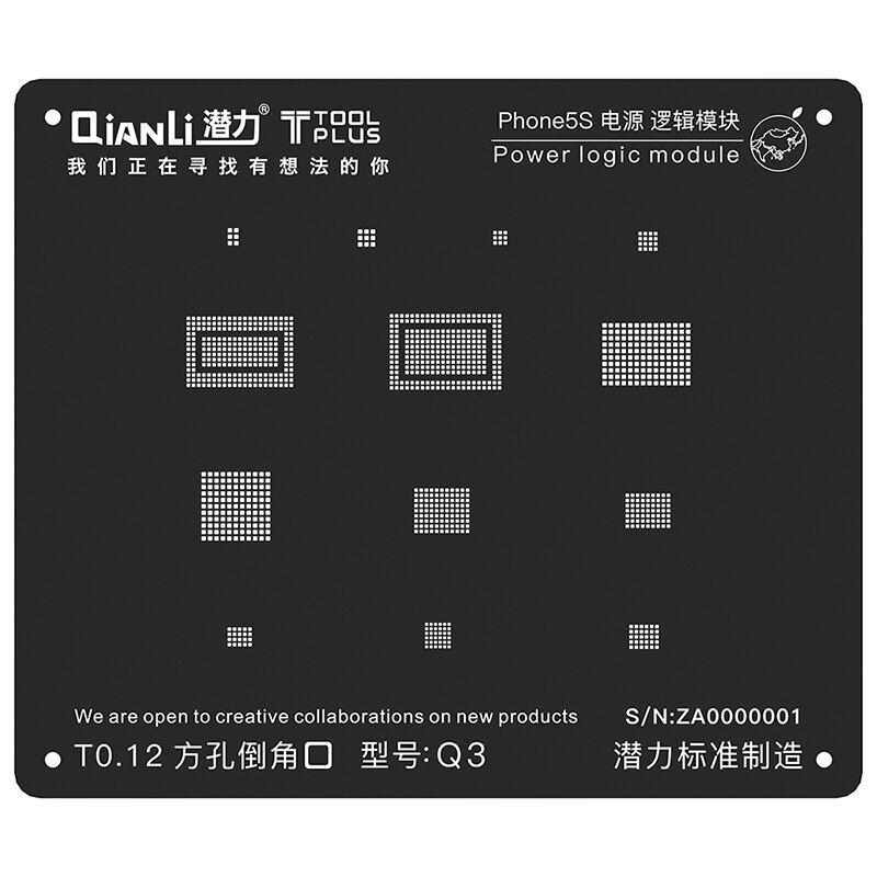 Power Logic Module BGA Reballing Black Stencil Plant Tin Steel Net For iPhone 8 7 6S 6 5SPower Logic Module BGA Reballing Black Stencil Plant Tin Steel Net For iPhone 8 7 6S 6 5S
