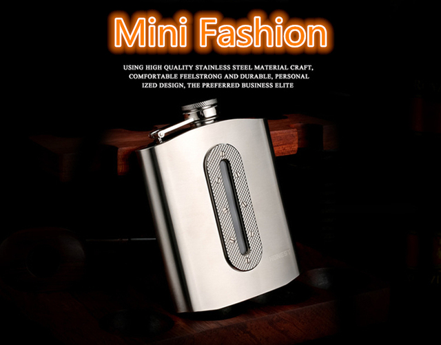 304 stainless steel flagon Whiskey hip flasks classic style Gifts flagon Sanding trim