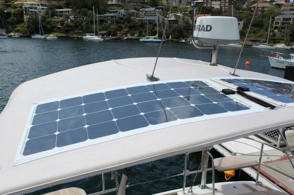 sunpower solar panel boat