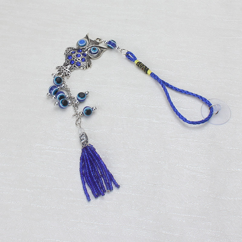 Jewelry Sets & More Supply 1pc Fashion Charm Blue Dolphin Evil Eye Keychains Purse Bag Buckle Pendant For Car Keyrings Key Chains Holder Women Men