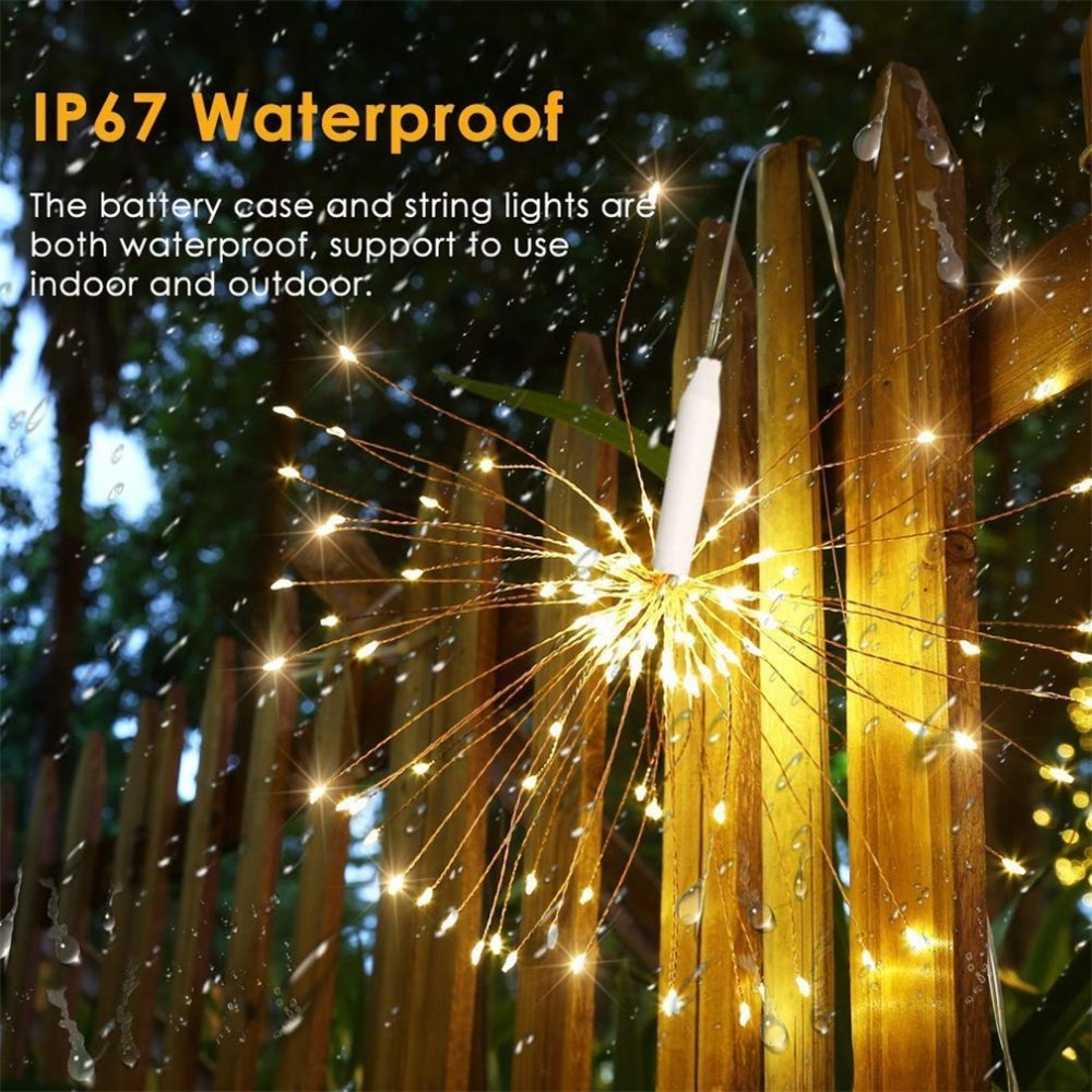 Dream LED String Lamp Outdoor Firework Starburst Fairy String Light Holiday Light Best Home Decoration in Lighting Strings from Lights Lighting