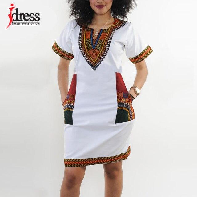 Summer Vintage Dress Women Tunic Casual Beach Dress African Print Shirt Dress Robe Femme Plus Size Dashiki Dress
