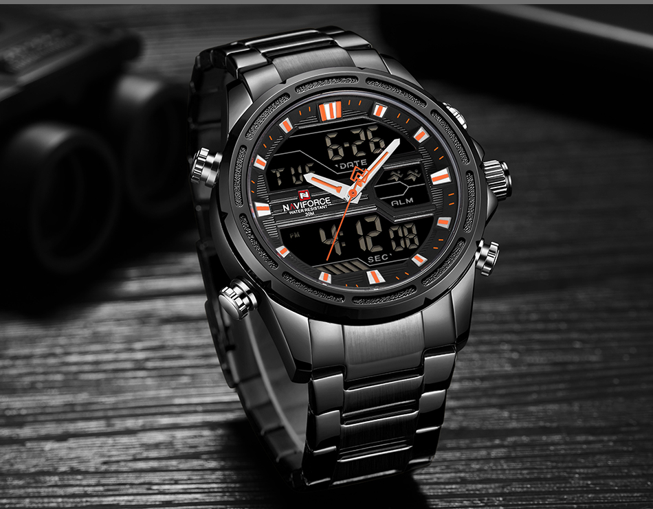 Top Luxury Brand NAVIFORCE Men Watches Military Waterproof LED Digital Sport Men's Clock Male Wrist Watch relogio masculino 12