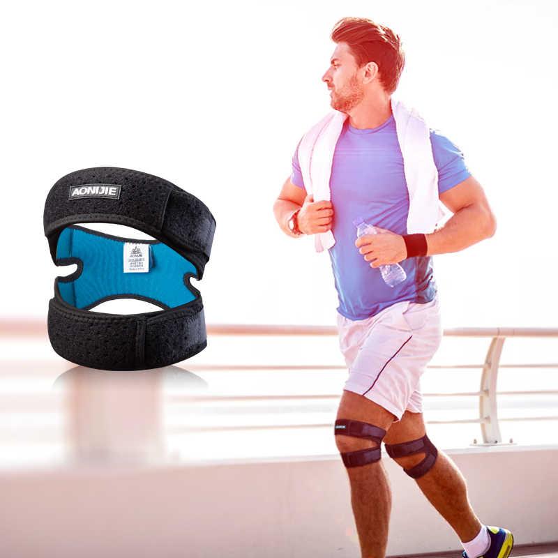 AONIJIE E4096 Dual Patella Knie Strap Athletics X-förmigen Brace Unterstützung Pad Schmerzen Relief Band Wandern Fußball Basketball Volleyball