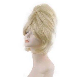 Image 3 - フォトアルバムカート蜂の巣ウィッグ 1960 s ティーザー靴下ホップヘアスプレーレトログリースフワフワブロンドヴィンテージレトロな女性のコスチュームアクセサリー