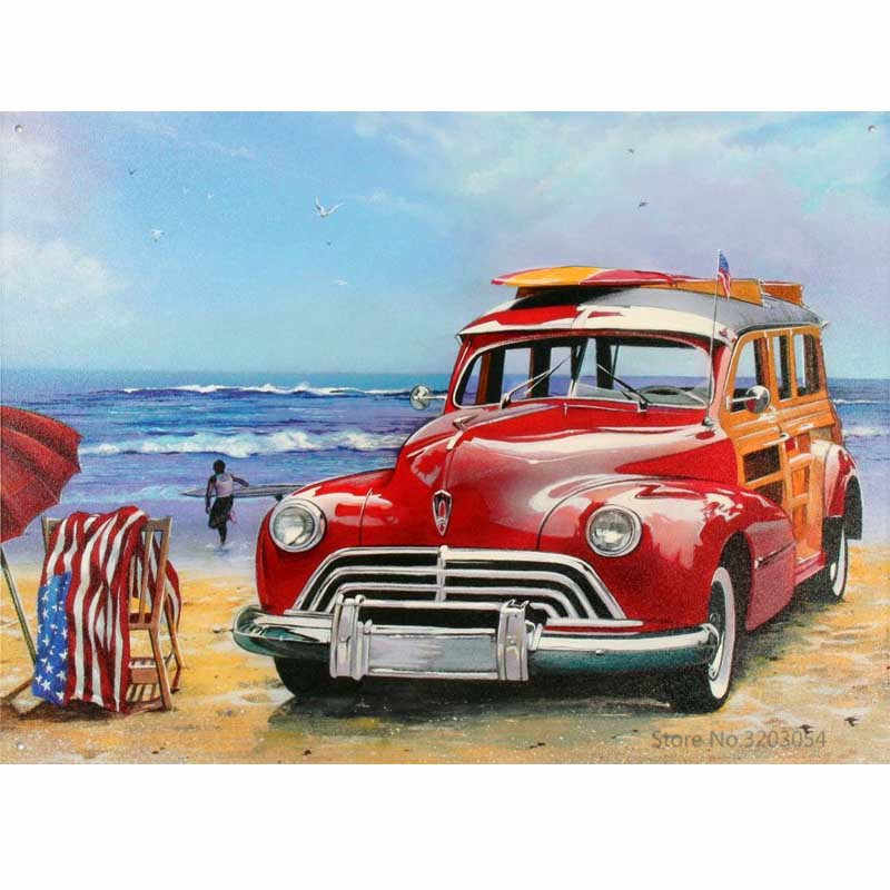 CHUNXIA Framed DIY Painting By Numbers Car Acrylic Painting Modern Picture Home Decor For Living Room 40x50cm RA3433