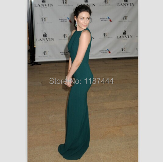 2d8536ae9f US $139.0 |Emmy Rossum Green chiffon prom dress American Ballet Theatre  2014 Opening Night Spring Gala Red Carpet formal Evening Gowns-in ...