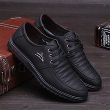 Party Fashion shoes High Quality Men Casual New Leather Flat Shoes Oxford Lace Up Dress Work Shoe Sapatos