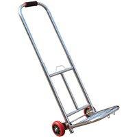 Foldable Shopping Cart Electroplating Round Tube Portable Luggage Trolley PU Heavy Bearing Wheel Supermarket Shopping Cart
