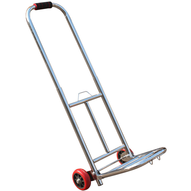 Pliable Panier Galvanoplastie Tube Rond Portable Bagages Chariot PU Gros Roulements Roue Supermarché Panier