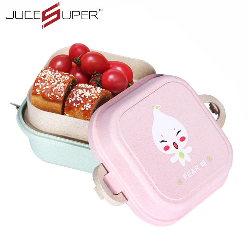 fashion cartoon dinnerware sets straw bento lunch box food container handle lunch box tableware. Black Bedroom Furniture Sets. Home Design Ideas