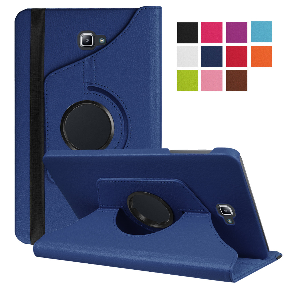Tab A6 10.1 Case 360 Degree Rotating Folio PU Leather Case Flip Cover For Samsung Galaxy Tab A 6 10.1 T580 <font><b>T585</b></font> 10.1