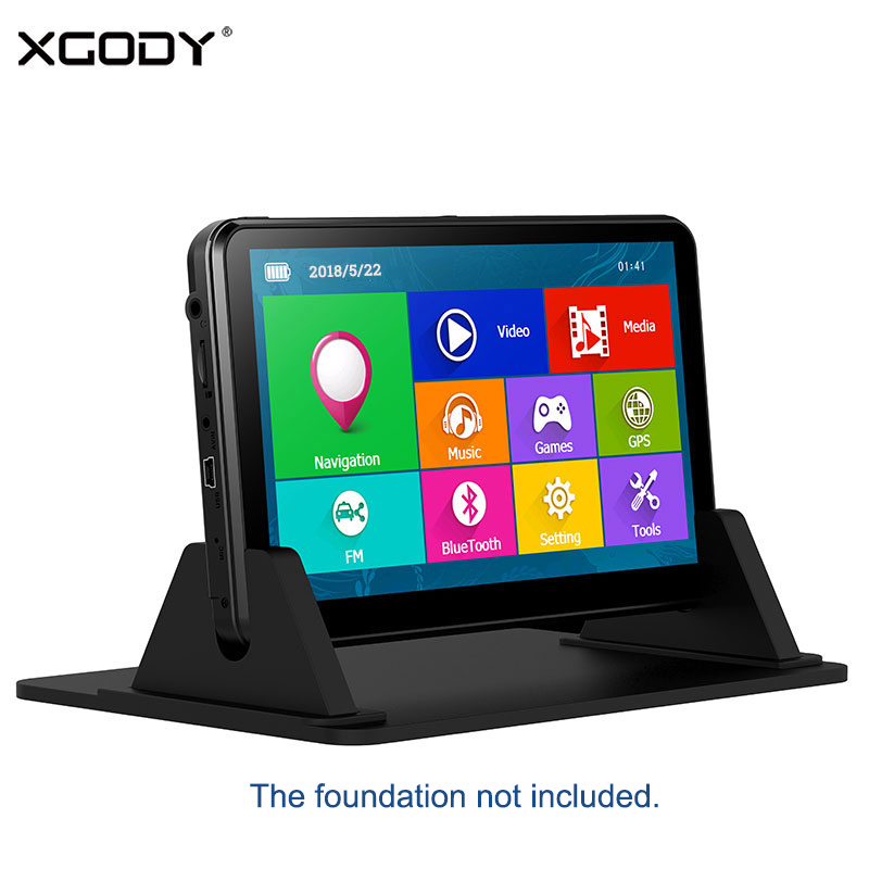 XGODY 7 884 Car GPS Navigator Capacitive Touch Screen 16GB ROM 128MB RAM FM Sat Nav GPS Navigation Auto Navitel Europe Free Map