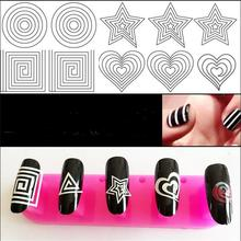 24 Styles French Manicure Diy 3d Nail Art Tips Guides Stickers Stencil Strip Hollow
