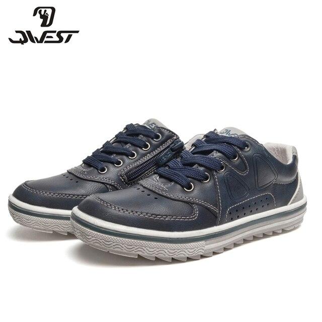 QWEST/брендовая весенне-летняя дышащая детская прогулочная обувь на шнуровке, размеры 31-36, детские кроссовки для мальчиков, 91P-SW-1449