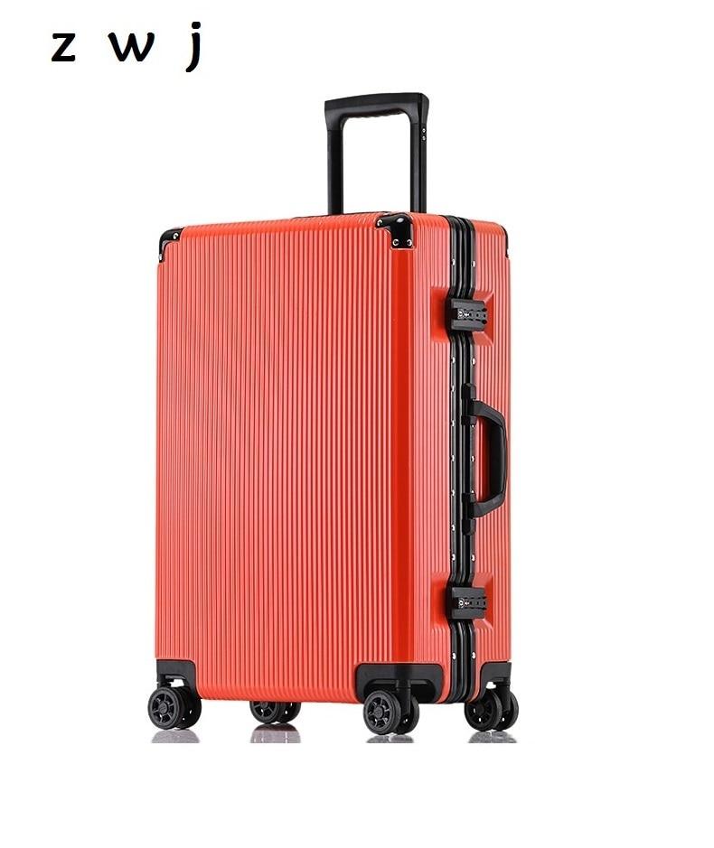 New Travel Trolley Luggage Suitcase PC Aluminum Frame With TSA Lock Hardside Rolling Luggage Suitcase With WheelsNew Travel Trolley Luggage Suitcase PC Aluminum Frame With TSA Lock Hardside Rolling Luggage Suitcase With Wheels