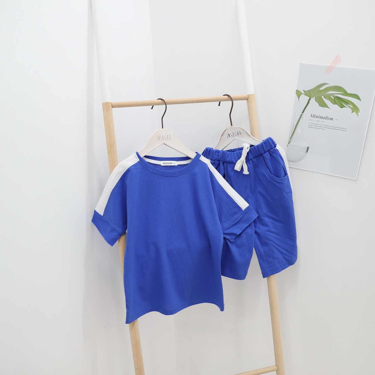 ชุดนอนฝ้ายชุดเด็กฤดูร้อนชุดเด็กหญิงแขนสั้นกางเกงขาสั้นชุดวันเกิด tee