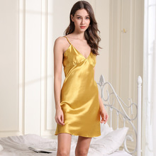 Silk Nightgowns Ladies Nighties Satin Gown Sexy Night Dress Nightgown 1025