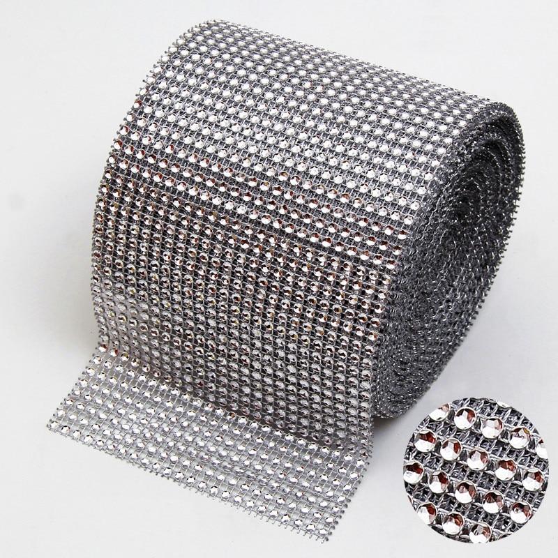 91.5cm Rhinestone keti teemant võrgusilma pulma kaunistamiseks Mariage Bling Wrap Partei lint DIY käsitöö vaas Supplies Decor.W