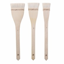 3pcs long handle wood art  Brushes Large Area Flat Brushes Hake Brushes Wool Chip Paint Brushes Set for drawing art supplies art [men] 2019 04 27t19 00