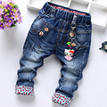 2017 New Arrival Butterfly Knotted Baby Long Butterfly Pants Kids baby girls jeans baby Denim pants Ankle Length Trousers