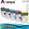 Aomya Hot offer! 6 Pcs x 5 cololr Compatible wide format cartridge Canon iPF 700/710/720/760/650/655/750/755/600/610/605/500/510