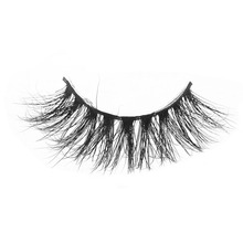 D008 1Pair 100% Real Siberian 3D Mink Full Strip False Eyelash Long Individual Eyelashes Mink Lashes Extension