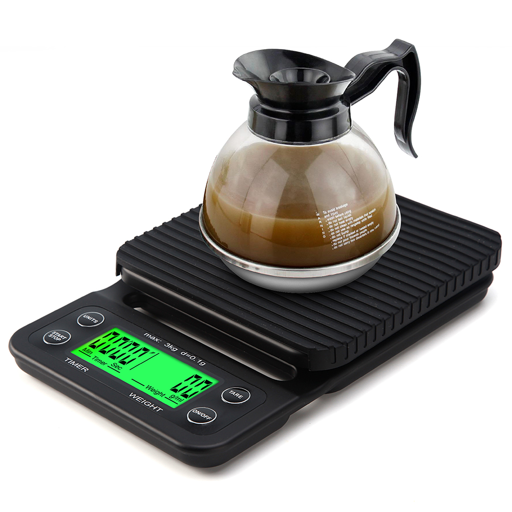 Electronic Kitchen Set: Electronic Coffee 3KG /0.1g Coffee Scale 3000 Timer