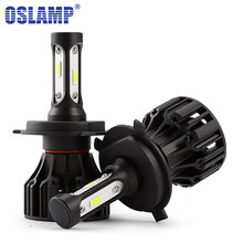 Oslamp T5 H1 H3 H4 H7 H11 COB LED Headlight 8000lm 72w 6500K Car Front Bulb Dipped High Beam Led Lamp All-in-one 9005 9006 9007(China)