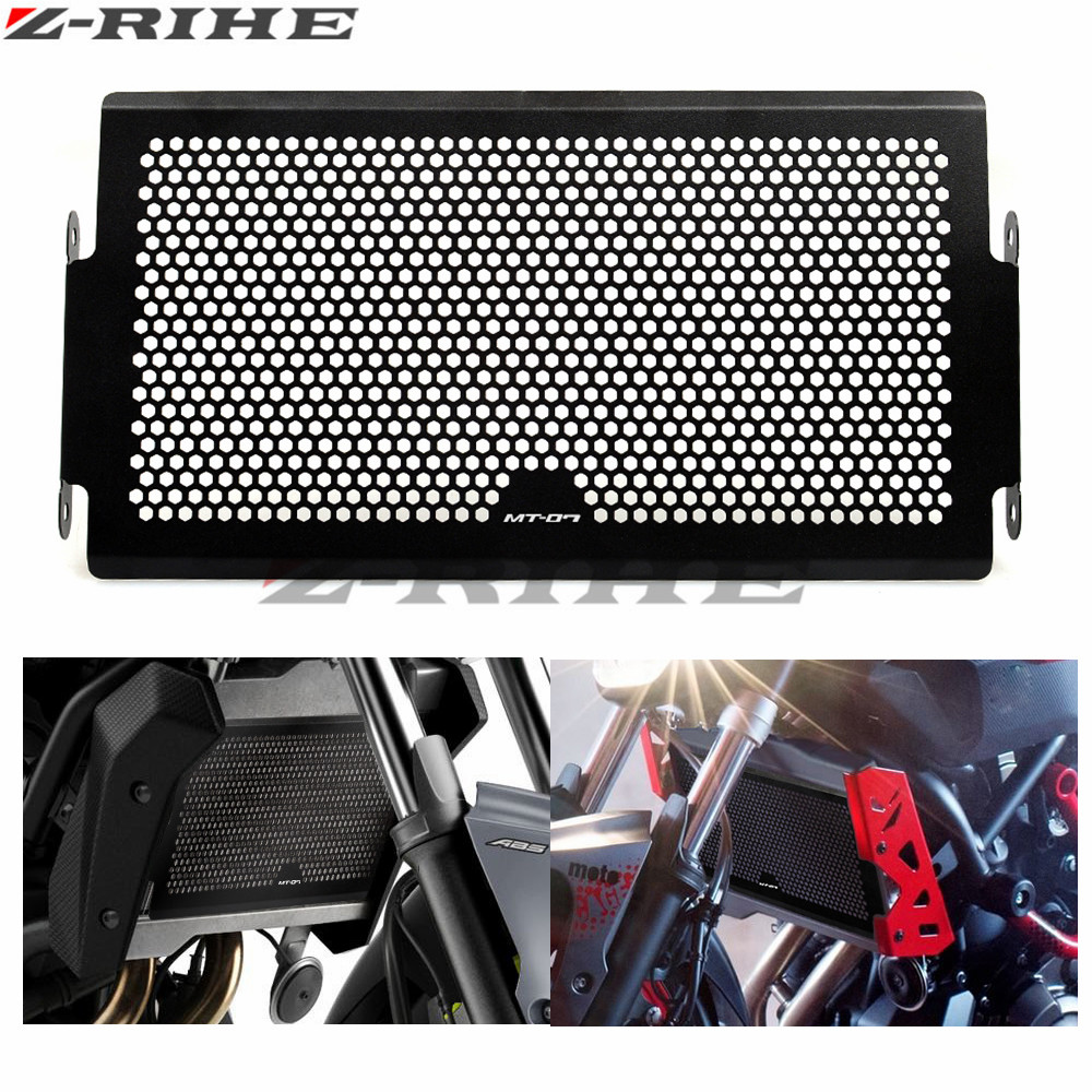 FOR MT07 LOGO Motorcycle Radiator Protective Cover Grill Guard Grille Protector Silver For Yamaha MT 07 MT07 MT-07 2014-2015 2017 new black motorcycle radiator grille guard cover protector for yamaha mt07 mt 07 mt 07 2014 2015 2016 free shipping
