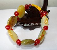 xd 001941 Chinese Nature Hetian Nephrite Jade Yellow Skin Large (A0427) Bracelets