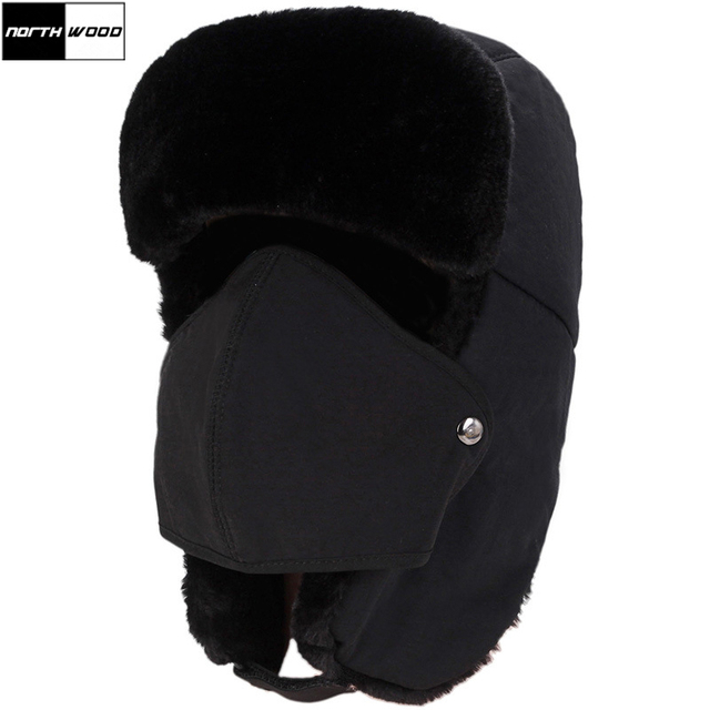 cac4f02c96  NORTHWOOD  Wholesale Winter Bomber Hats Ear Flaps Thicker Russian Trapper  Hat Plus Velvet Men Women Snow Bone Cap Ski Hat