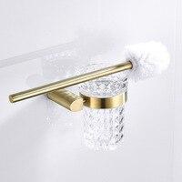 Nordic Gold Toilet Brush Holder Bathroom Aaccsessories Set Long Handle Durable Toilet Brush Toilet Glass Cup Toilet Bowl Brush