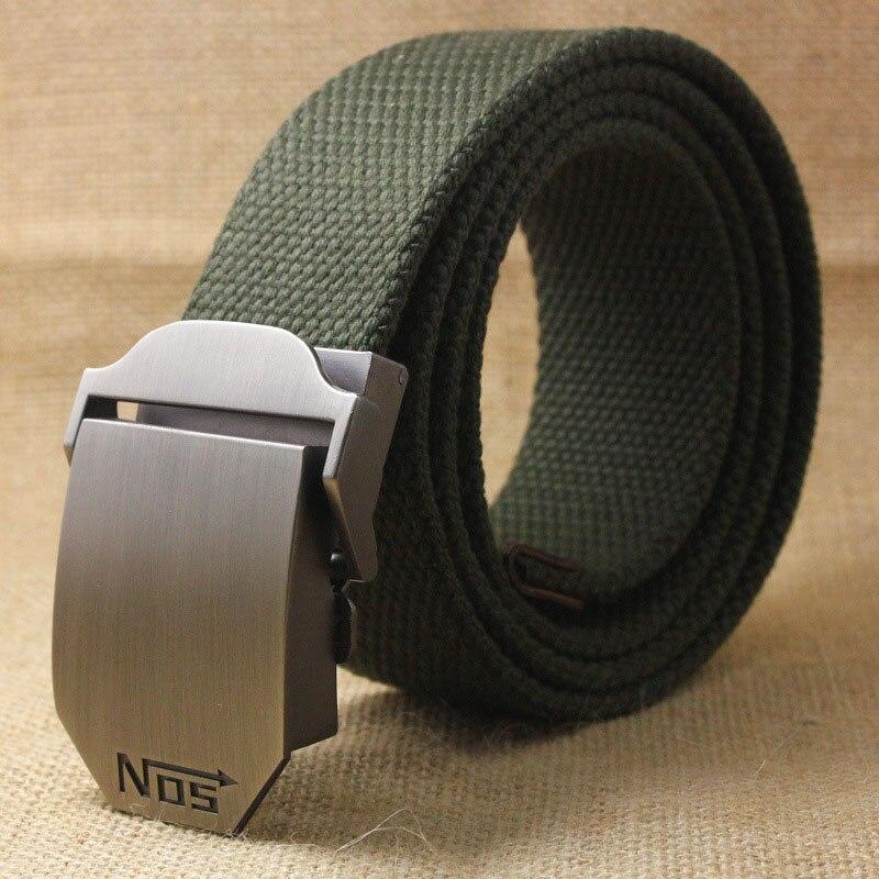Лучший YBT унисекс тактический ремень, высокое качество, 4 мм, толщина 3,8 см, широкий, Повседневный, Холщовый ремень, для улицы, сплав, автоматическая пряжка, мужской ремень - Цвет: B Army green