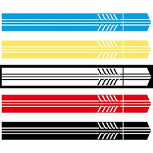 2Pcs Car Side Body Sticker Vinyl Decal Long Stripe DIY Decals Accessories 220*11.5cm
